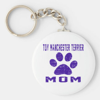 Toy Manchester Terrier Mom Gifts Designs Keychains