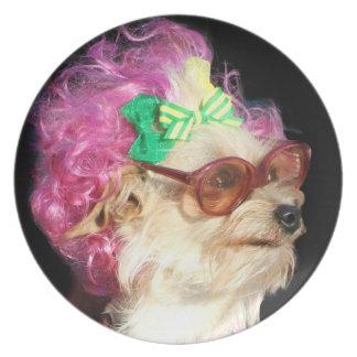 Toy mix dog decorative plate