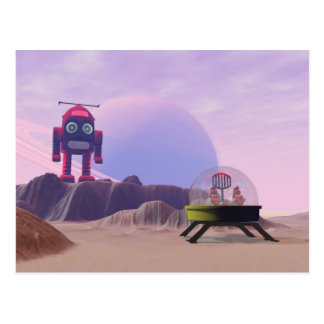 Toy Moon Walker Scene Postcard