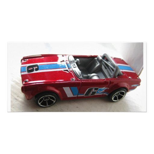 Toy Muscle Car Personalized Photo Card