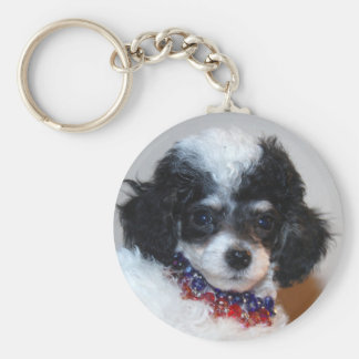 Toy Parti Poodle Puppy face Key Chain