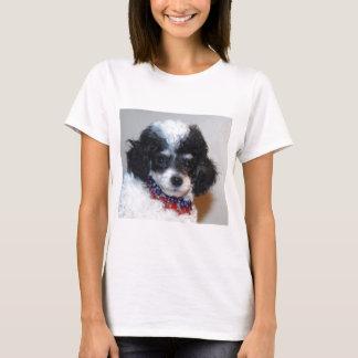 Toy Parti Poodle Puppy face T-Shirt