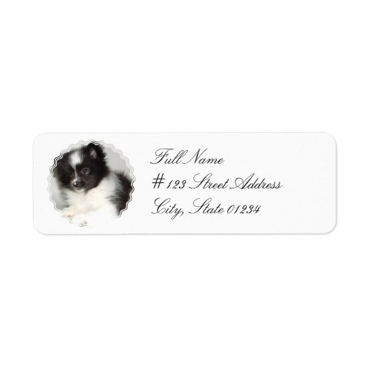 Toy Pomeranian Dog Mailing Label