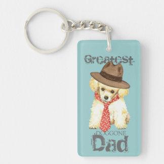 Toy Poodle Dad Double-Sided Rectangular Acrylic Keychain