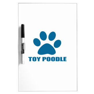 TOY POODLE DOG DESIGNS DRY ERASE BOARD