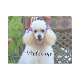 Toy poodle dog doormat
