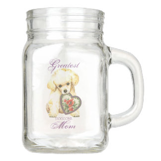 Toy Poodle Heart Mom Mason Jar