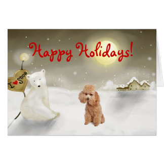 Toy Poodle Holiday Card