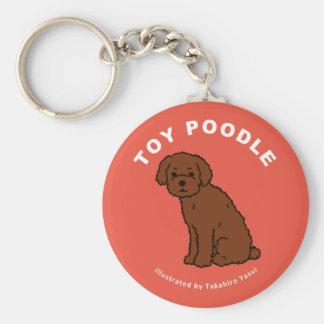 Toy Poodle Keychain