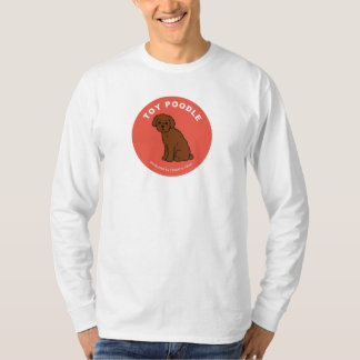 Toy Poodle Long SleeveT-shirt (White) T-Shirt