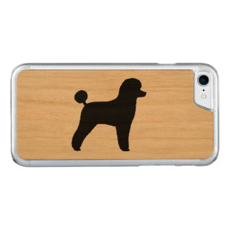 Toy Poodle Silhouette Carved iPhone 8/7 Case