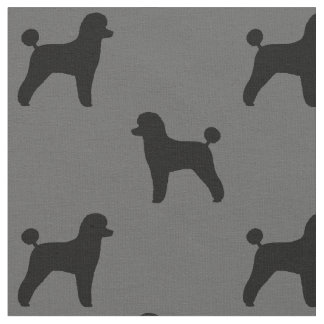 Toy Poodle Silhouettes Pattern Fabric