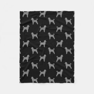 Toy Poodle Silhouettes Pattern Fleece Blanket