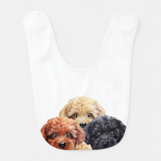 Toy poodle trio by miart baby bibs