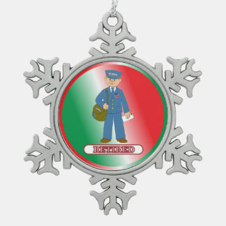 Toy Postman Retired Snowflake Pewter Christmas Ornament