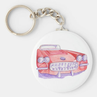 Toy Red Car Keychain