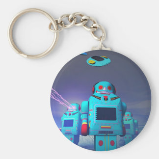 Toy Robos on the Attack Keychain