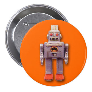 Toy Robot Round Button