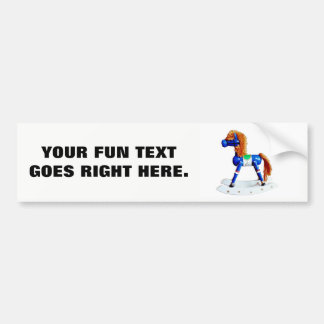 Toy Rocking Hobby Horse with Your Phrase Bumper Sticker