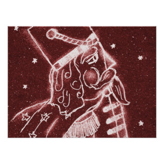 Toy Soldier in Cranberry Red Poster