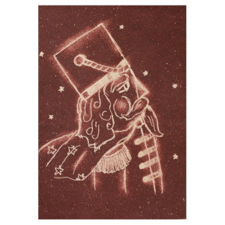 Toy Soldier in Cranberry Red Wood Poster