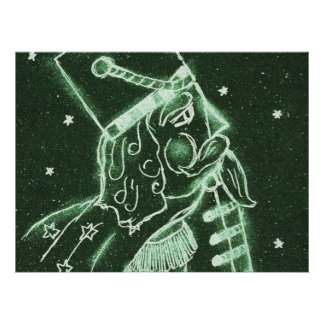 Toy Soldier in Deep Forest Green Poster