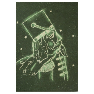 Toy Soldier in Deep Forest Green Wood Poster