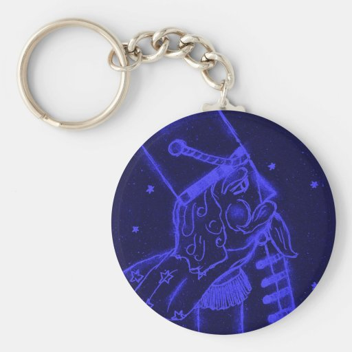 Toy Soldier in Royal Blue Keychain