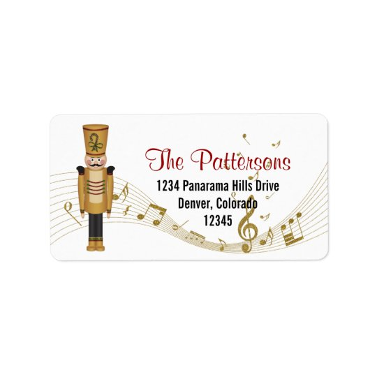 Toy Soldier Music Christmas Return Address Label
