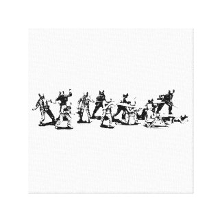 Toy Soldiers Canvas Hangup Canvas Print