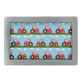 Toy tractor pattern belt buckles