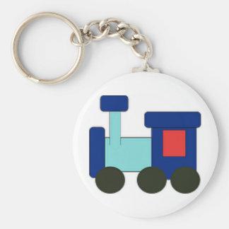 Toy-Train Basic Round Button Key Ring