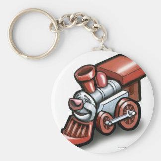 Toy Train Basic Round Button Key Ring