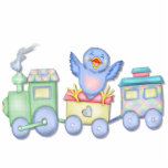 Toy Train Bluebird Photo Cutout