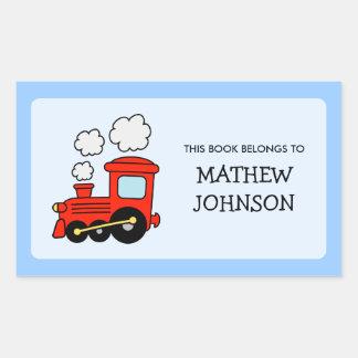Toy train book label stickers | School supplies