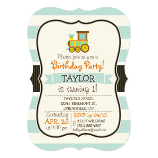 Shop Zazzle's selection of train birthday invitations for your party!