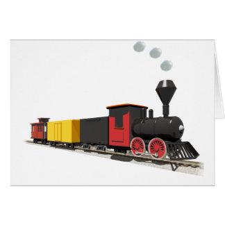 Toy Train card