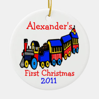 Toy Train-First Christmas-Personalize It Ceramic Ornament
