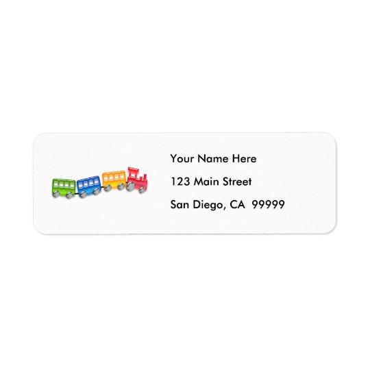 Toy Train Return Address Label