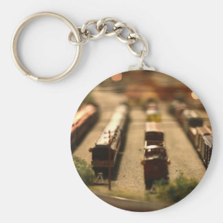 Toy Train Round Keychain