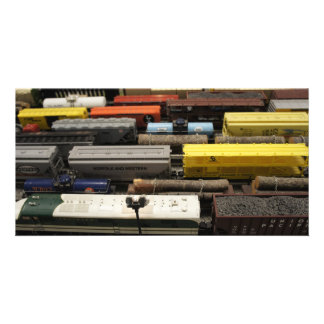 Toy Trains Photo Card Template