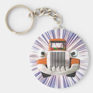 Toy Truck Basic Round Button Key Ring