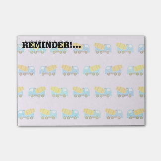 Toy truck pattern post-it® notes