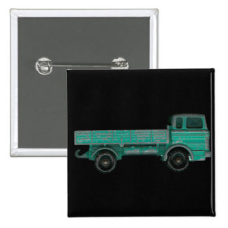 Toy truck photo vintage flatbed for movers haulers 15 cm square badge