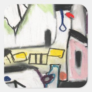Toy Wars (primitive expressionism) Square Sticker