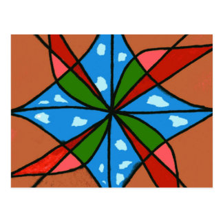 """""""Toy Windmill"""" Abstract Postcard"""