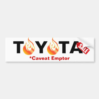 Toyota - Caveat Emptor Bumper Sticker