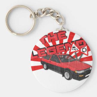 Toyota Corolla AE86 Basic Round Button Key Ring