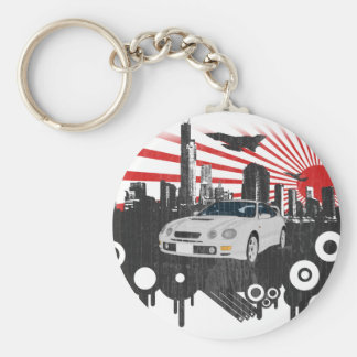 Toyota GT-4 Celica Basic Round Button Key Ring
