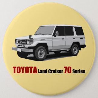 Toyota Land Cruiser 70 Series HZJ77 6 Cm Round Badge